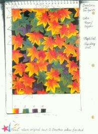 Original Drawing for Maple Fall Fabric Design