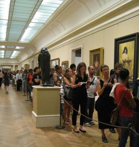 The Line for the Alexander McQueen Exhibit