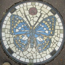 Manhole Cover - Butterfly