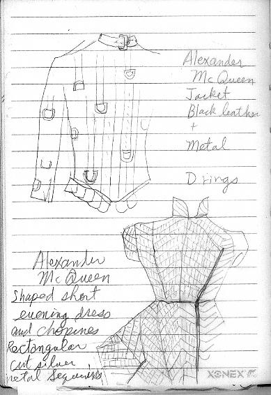 sketch of McQueen's work at FIT