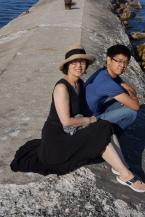 Iris Wang with Son